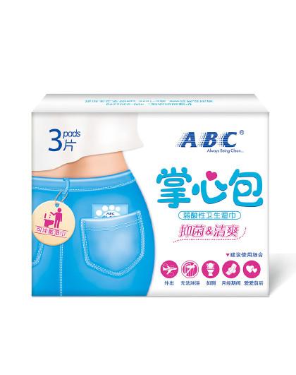ABCABC卫生湿巾掌心包3片试用装
