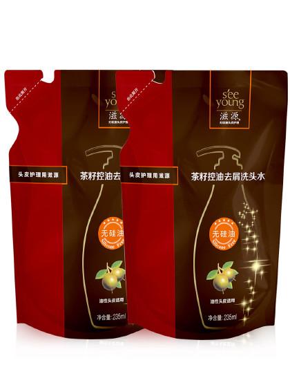 滋源滋源茶籽控油去屑超值装(洗发水470ml)洗发水 无硅油 油性去屑