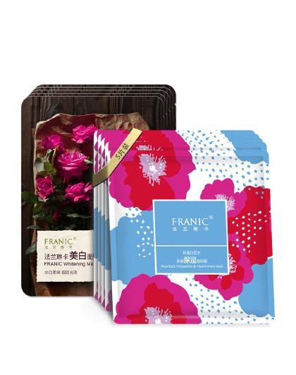 法兰琳卡玫瑰花苞水多糖保湿面贴膜超值装10片装面膜补水保湿抖音爆款