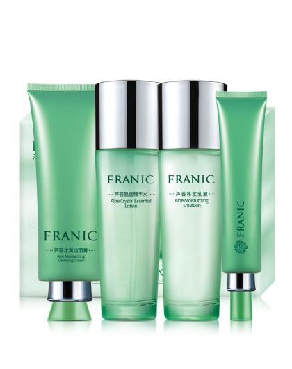 法兰琳卡芦荟亲亲补水套 保湿水乳套装 敏感肌肤专用护肤品套装