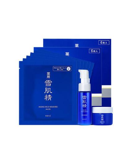 雪肌精【调理肌底】雪肌精 日本集中修护面膜6片/盒*2   改善干燥面膜
