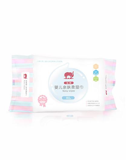 诺绵红色小象诺绵 婴儿亲肤柔湿巾(有盖)80p【婴儿湿巾 手口湿巾 湿巾/纸巾】