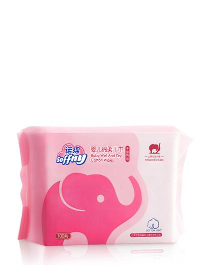 诺绵红色小象诺绵 婴儿绵柔干巾100p【干湿两用巾 棉巾 湿巾/纸巾】