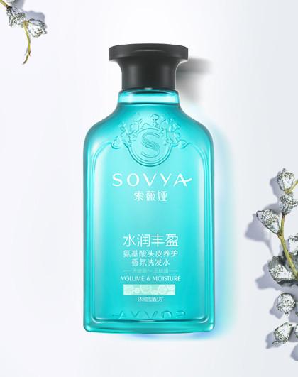 索薇娅天使草水润丰盈氨基酸香氛洗发水300ml留香无硅油蓬松控油