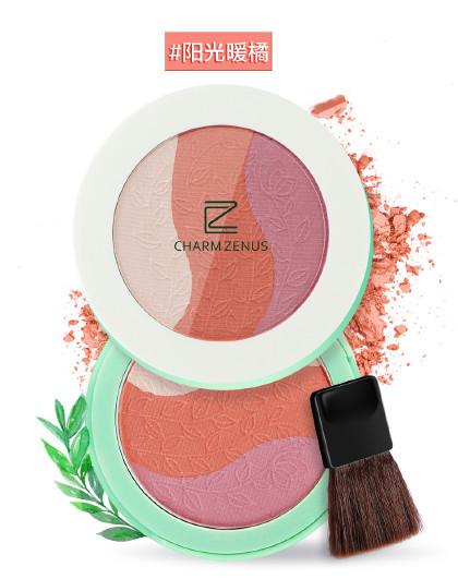 瓷妆瓷妆 谜幻花园三色腮红 修容修颜高光 提亮肤色 自然裸妆