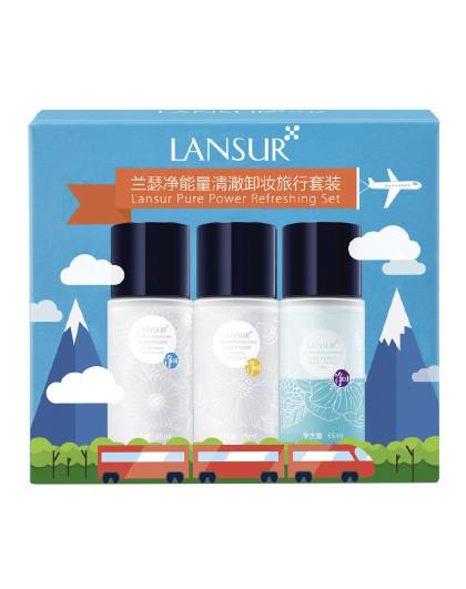 兰瑟兰瑟LANSUR   净能量清澈卸妆旅行套装 深层清洁清透卸妆无负担