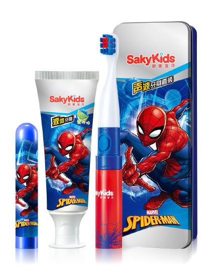 舒客舒客宝贝声波电动牙刷B221套装-蜘蛛侠 4件套 软毛护龈 其它颜色