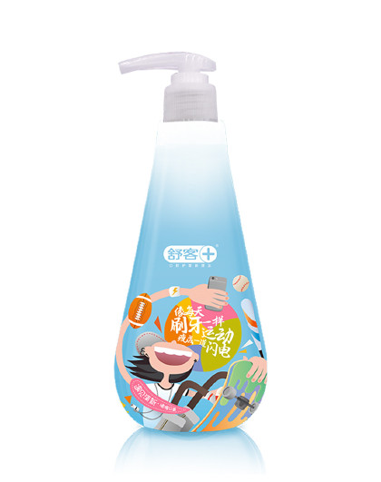 舒客舒客【酷爽薄荷啫喱】遇见.清新啫喱牙膏大容量250克 去牙渍 其它颜色