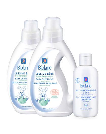 BIOLANE DE BIOPHA婴儿柔和衣物洗涤液套装