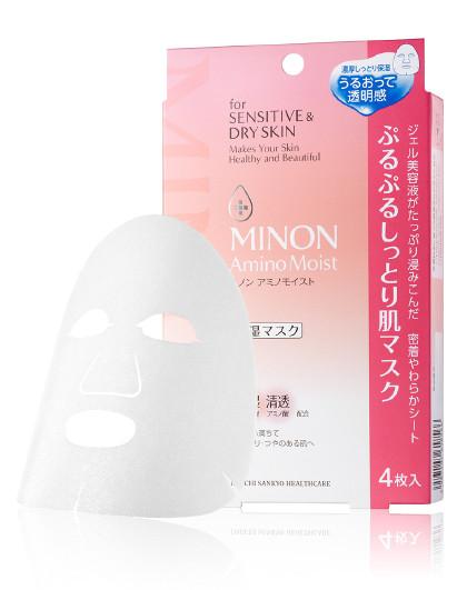 蜜浓蜜浓MINON 氨基酸锁水防御修护凝胶面膜22mlx4片 见实物