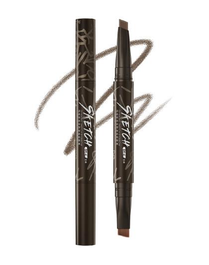 玛丽黛佳玛丽黛佳涂鸦描眉笔 0.25g 显色柔和 亚麻