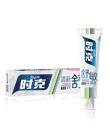 时克时克sayclo 【清新舒敏 洁齿防蛀】舒敏清新牙膏(绿茶香型)165g