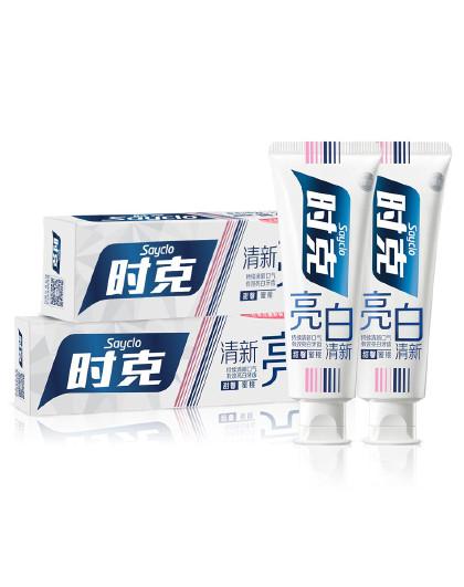 时克时克sayclo 【蜜桃甜润 亮齿洁白】蜜桃香型亮白清新牙膏优惠装165g*2支