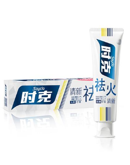 时克时克sayclo 【清新祛火 健齿护龈】祛火清新牙膏(柠檬香型)165g