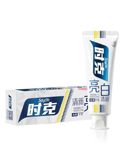 时克时克sayclo 【沁爽柠檬 亮白清新】亮白清新牙膏(柠檬香型)100g