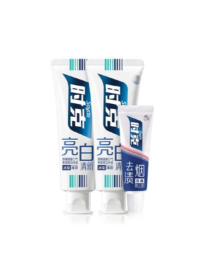 时克时克sayclo 亮白清新护理清洁牙膏套装 3件套220g