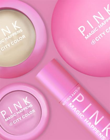 City ColorCITYCOLOR 粉红女郎底妆宝典 化妆品彩妆套妆 高光3.7g、修容盘9g、粉妆条3g、腮红2.2g底妆套组 其他颜色