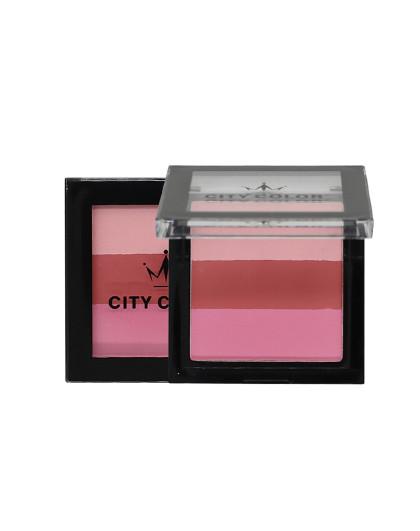 City ColorCITYCOLOR 花漾焕采腮红 裸妆 保湿 提亮 修容 自然 好气色 2#红粉佳人
