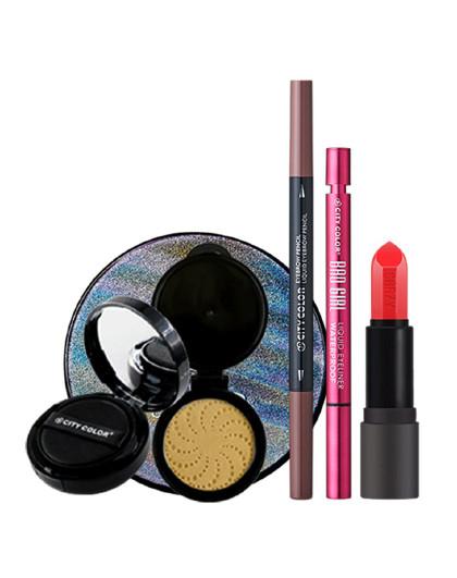 City ColorCITYCOLOR 轻妆上阵-美妆礼盒 眉笔 眼线液笔 气垫霜 口红 化妆品彩妆套装 其它颜色