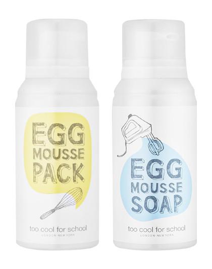 涂酷涂酷  柔滑鸡蛋亮肤洁面慕斯&泡沫面膜套装 洗面奶面膜套装