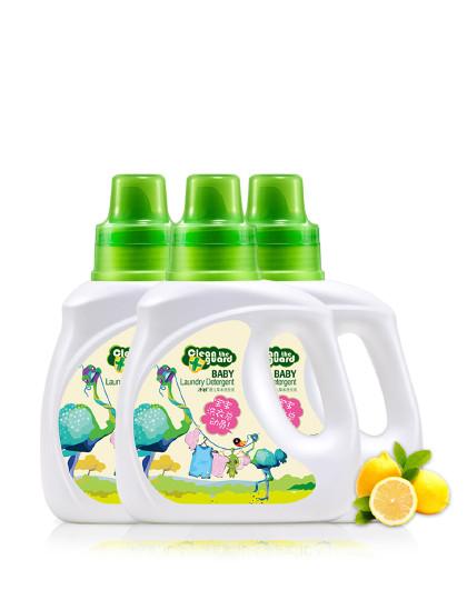 子初婴儿洗衣液天然草本植萃洗衣液1L/3瓶 宝宝儿童洗衣液