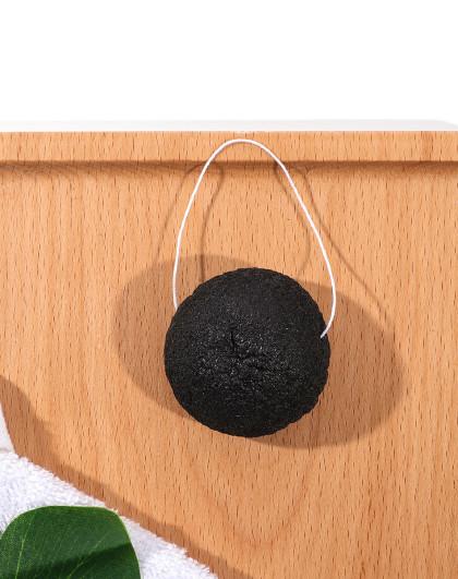 大嘴猴大嘴猴 魔芋蛋洗脸扑 洁面扑 起泡球 深层清洁 去角质 黑色