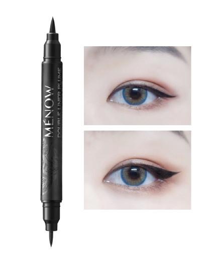 美诺美诺MENOW【防水眼线笔】双头眼线液笔黑色 黑色